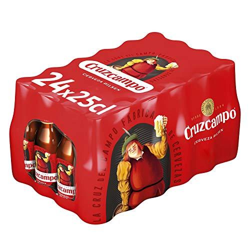 Cruzcampo Cerveza Pilsen – Caja de 24 Botellas x 250 ml – Total: 6 L