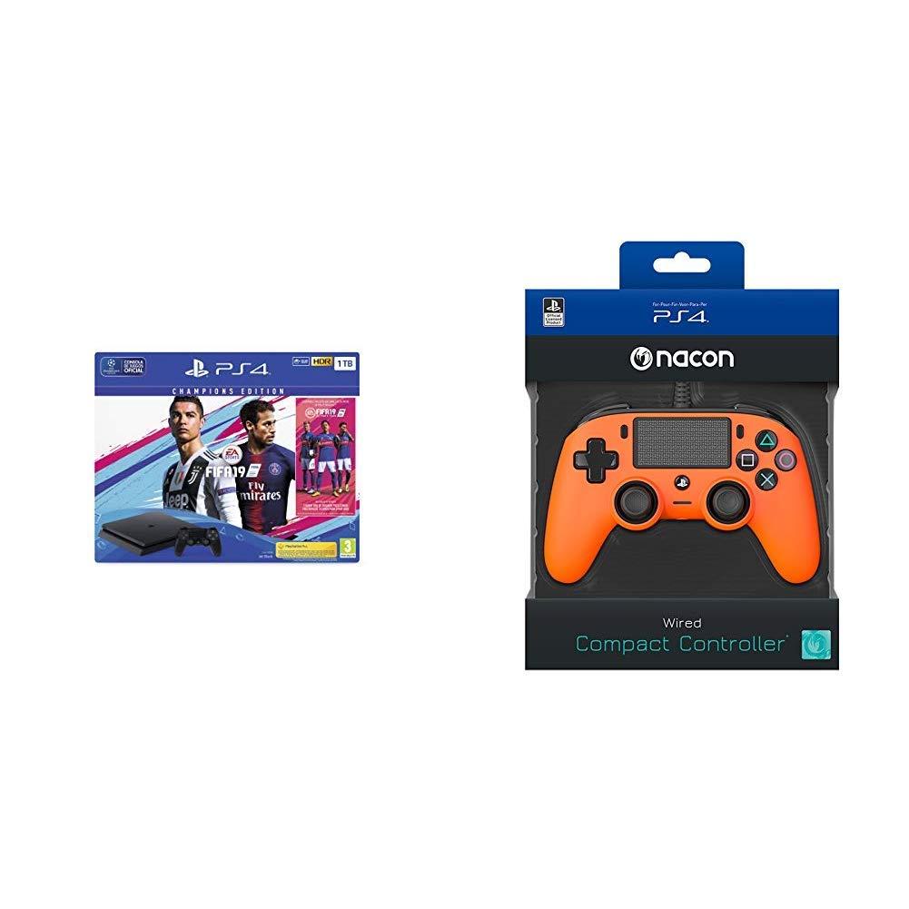 PS4 1TB + FIFA 19 - Edición Deluxe+Nacon - Mando Compacto ...