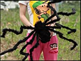 Large Plush Spider Halloween Decoration Haunted House Scary Outdoor Indoor Decoration(4.1ft Black)