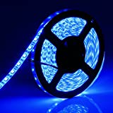 SUPERNIGHT 16.4ft/5M SMD 5050 60Leds/M Blue Waterproof Led Flexible Flash Strip 300 Leds LED Light Strip