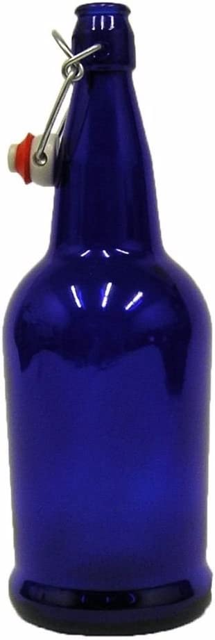 Home Brew Ohio FBA_Home-Brew Cobalt Blue 32 oz. EZ Cap Beer Bottles, CASE OF 12