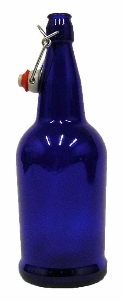 Home Brew Ohio B0064OKW5O FBA_Home-Brew Cobalt Blue 32 oz. EZ Cap Beer Bottles, CASE OF 12