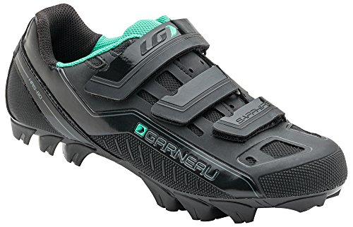 Louis Garneau - Women's Sapphire MTB Bike Shoes, Black, US (11.5), EU (43)