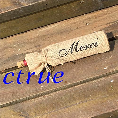 12Pc Mr Mrs Burlap Jute Wine Bottle Bags Champagne Sleeve Holder Gifts Bag Rustic Vintage Wedding Decor Centerpieces