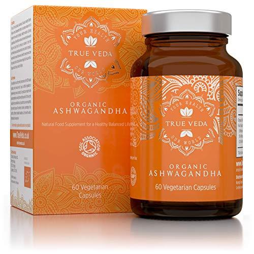 Organic Ashwagandha Vegan Capsules   Certified Organic by Soil Association   Ashwanghanda KSM-66 100% Natural Supplement   Ayurveda Formula Known as Withania Somnifera Made in UK   KSM66   60 Pills
