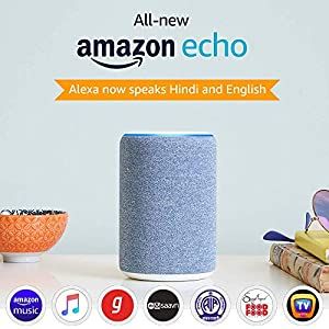 All-new Amazon Echo (3rd Gen) - Improved sound, powered by Dolby (Blue)
