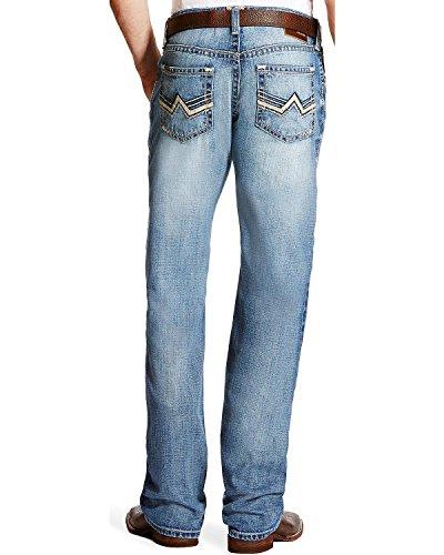 Ariat Men's M4 Bonner Low Rise Relaxed Fit Jeans Boot Cut Indigo 34W x 36L - Ariat Low Rise Jeans
