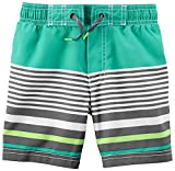 Carter's Little Boys' Trunk, Mint Stripe, 4-5