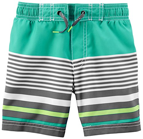 Carter's Little Boys' Trunk, Mint Stripe, 8