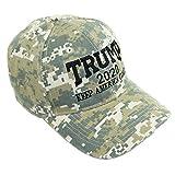 Bingoo Trump 2020 Keep America Great Embrodiery Campaign Hat USA Baseball Cap (Camo 01)