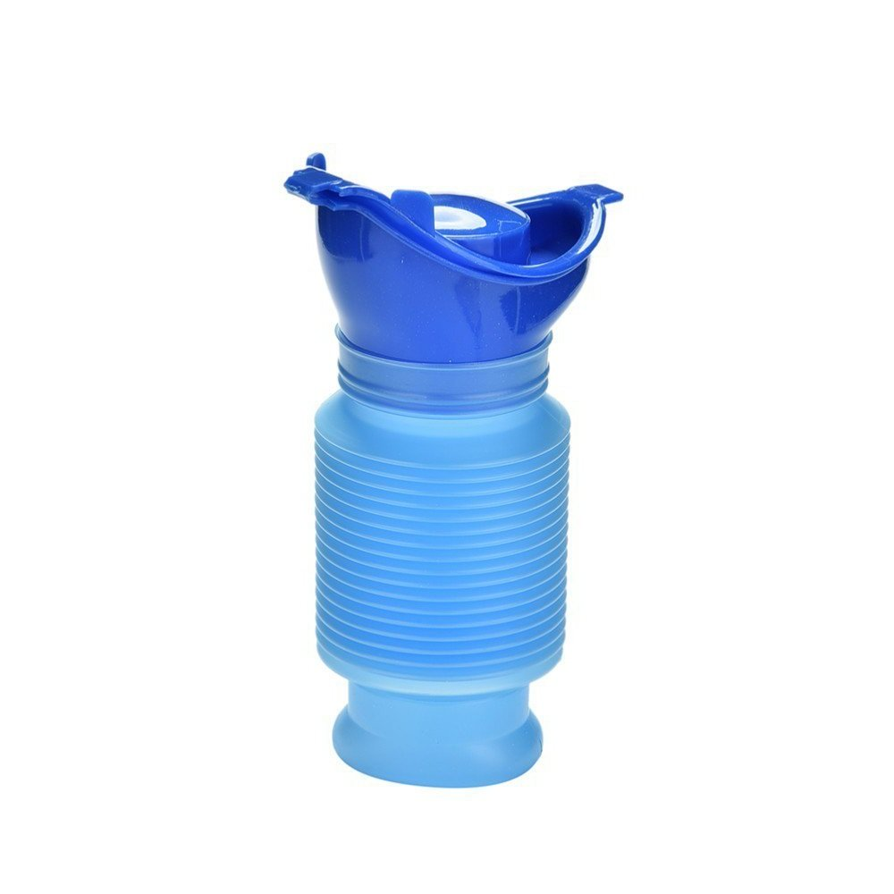 SWC store Emergency Urinal Mobile Toilet Potty Portable Shrinkable Mini Pee Bottle for Outdoor Camping Travel, 750 ML