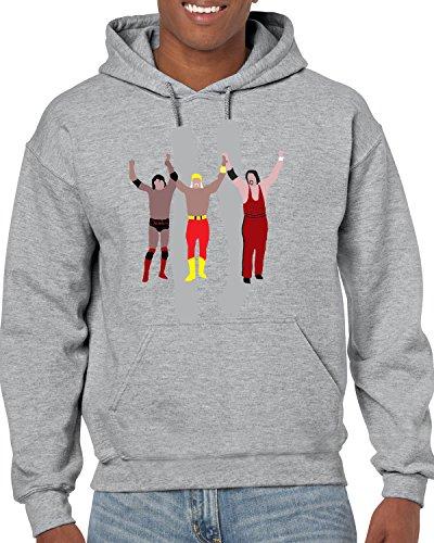 Tobin Clothing Gray Hogan Joining The New World Order Hooded Sweatshirt Adult 2XL