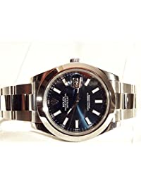 NEW Rolex Datejust II Stainless Steel Blue Sticks Oyster Mens watch 116300 BLIO