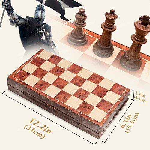 P/ädagogisches Spielzeug Magnetschachspiel Internationales Schachp/ädagogisches Schachspiel Unterhaltungsspiel Schach mit Klappbrett