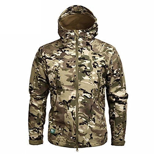 YoYo_Boy Men's Military Camouflage Fleece Jacket Army Tactical Multicam Male Camouflage Windbreakers CP XXXL (Xxx Set Cp)