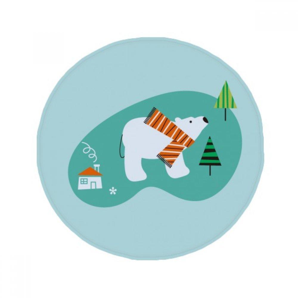 60X60cm DIYthinker Cartoon Bear Animal Plant Anti-Slip Floor Pet Mat Round Bathroom Living Room Kitchen Door 60 50Cm Gift