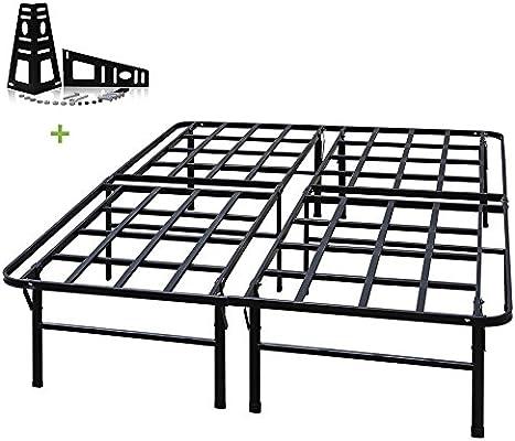 meet 6879b be582 TATAGO 3000lbs Max Weight Capacity 16 Inch Tall Heavy Duty Platform Bed  Frame & 2 Set Headboard Bracket, Mattress Foundation, Non-Slip, No Noise &  No ...