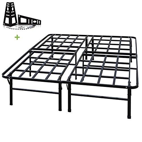 3000lbs Max Weight Capacity TATAGO 16 Inch Tall Heavy Duty Platform Bed Frame & 2 Set Headboard Bracket, Mattress Foundation, Non-Slip, No noise & No Box Spring Need for Saving Money, Full by TATAGO