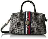 Tommy Hilfiger Handbag Jaden Satchel, Black/White