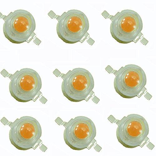 Led World 10PCS 3W full spectrum 380-840nm led 400nm~840nm plant growth led light