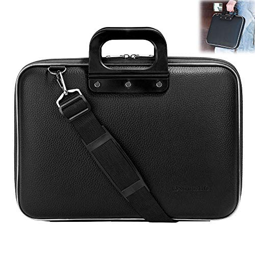 Roxie 15 15.6 Inch Waterproof Leather Laptop Shoulder Bag Messenger Sleeve Bag for MacBook Pro 15.4 inch, 15.6 Inch Ultrabook ASUS Acer Dell Inspiron Lenovo HP Chromebook Notebook