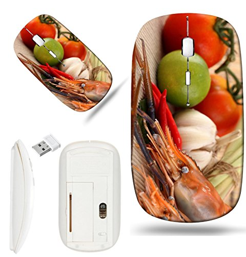 - Luxlady Wireless Mouse White Base Travel 2.4G Wireless Mice with USB Receiver, 1000 DPI for notebook, pc, laptop, macdesign IMAGE ID: 22782563 Asian herb and spicy with shrimps Tom Yum