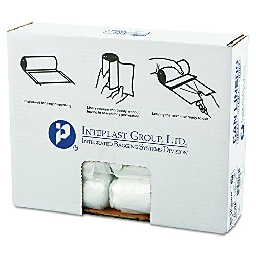 Inteplast Group S242408n High Density Can Liner  24 X 24  10Gal  8Mic  Clear  50 Per Roll  Case Of 20 Rolls