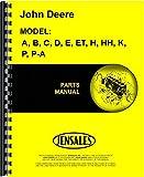 John Deere A B C D E ET H HH K P PA Manure Spreader Parts Manual