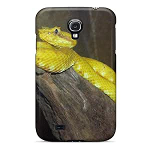 Samsung Galaxy S4 QMW2649BFfq Support Personal Customs Lifelike Yellow Viper Series Shock Absorbent Hard Cell-phone Cases -WayneSnook