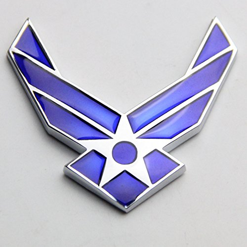 Btopars 3D USAF Logo Air Force Wings Airman Metal Cars Auto Emblem sticker decal ()