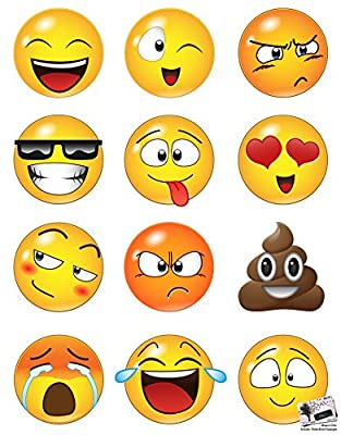 Large Emoji icons Faces Wall Stickers Decal #6052