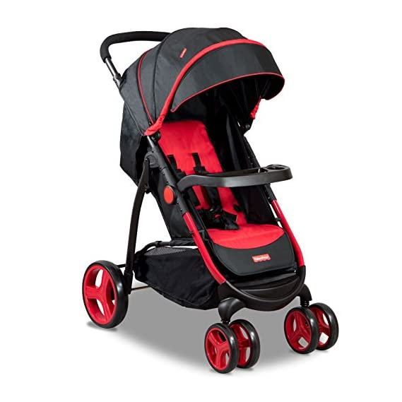 Fisher-Price Explorer Steel Stroller Cum Pram (Red)