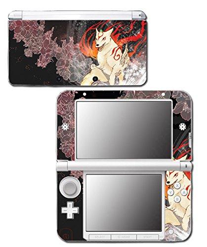 Okami Okamiden Amaterasu Chibiterasu Japanese Wolf God Video Game Vinyl Decal Skin Sticker Cover for Original Nintendo 3DS XL System