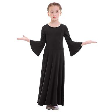 2ffd7b5e2 Amazon.com  Girls Bell Long Sleeve Liturgical Praise Dance Dress ...