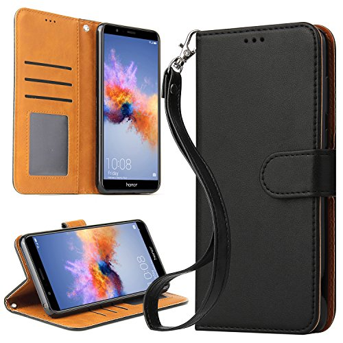 OKILA Huawei Mate SE Case, Honor 7X Case, Book Style Slim Wallet Case with Kickstand Feature and Card Slot for Huawei Mate SE/Honor 7X Phone Leather Case Cover -