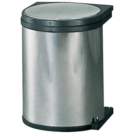 1 x 10 Litre 1 x 20 Litre Dark Grey NaplesUK Recycle Pull Out Kitchen Hinged 300mm Base Cupboard Waste Dust Bin 30 Litre