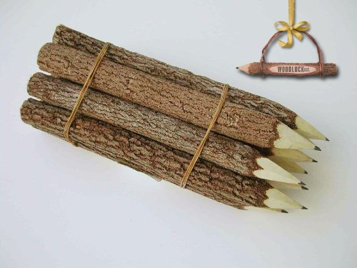 - Handmade Twig Pencils (7'' - 10pk)
