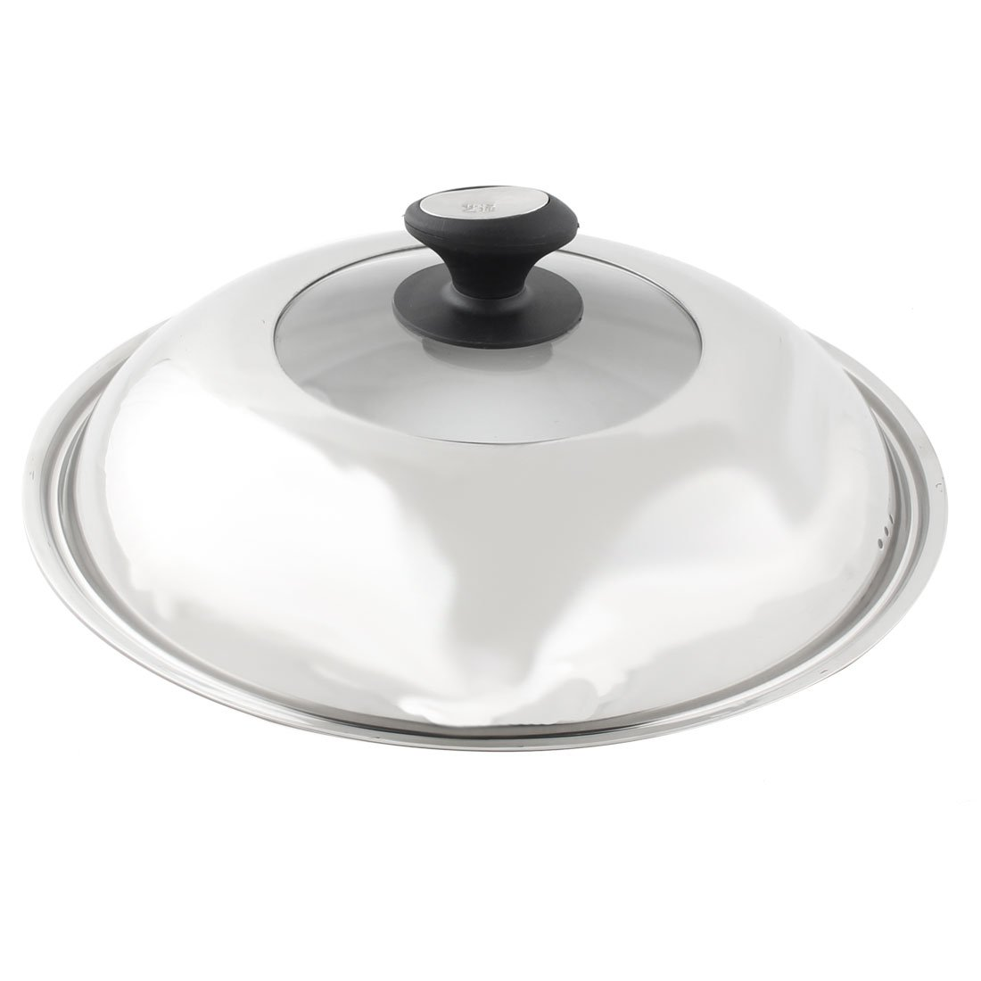 uxcell Stainless Steel Home Kitchen Cooker Pot Skillet Frying Pan Knob Lid Cover 32cm Dia a16052700ux0479