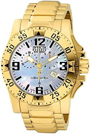 Invicta Men s 6257 Excursion Collection Chronograph 18k Gold-Plated Stainless Steel Watch