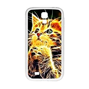 YYYT Creative Abstract Cat Custom Protective Hard Phone Cae For Samsung Galaxy S4