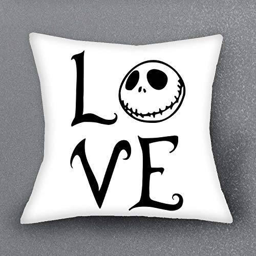 CHITOP The Nightmare Before Christmas -Cushion Cover Pillow Case -for Sofa/Car Cushion Home Decorate Pillows Cover Pillowcase 1 PCS/Lot 43x43CM(2) ()