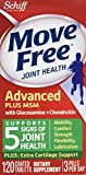 Move Free Advanced Plus MSM, 120 tablets - Joint Health Supplement with Glucosamine and Chondroitin (Pack of 5)