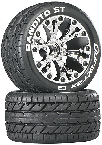 2.8 '2WD Mounted Rear C2 Tire with Chrome Wheel (2-Piece) [parallel import goods] (C2 Rear Wheel)