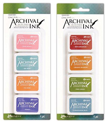 Mini Tea Rose (Wendy Vecchi Mini Archival Ink Pads - Kit #3 and Kit #4 - Bundle)
