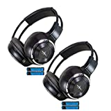 Kyпить Pair of Two Channel Folding Adjustable Universal Rear Entertainment System Infrared Headphones With 2 Additional 48