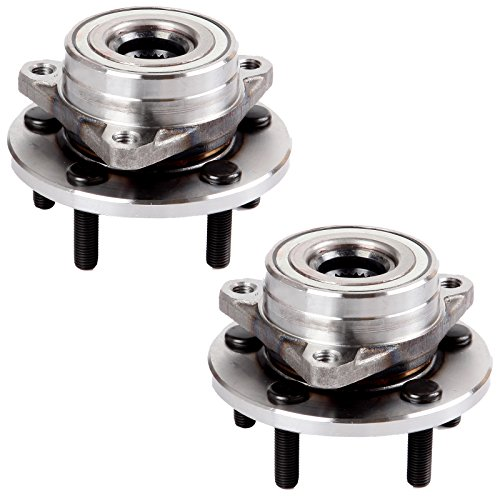 - ECCPP Replacement for Pair of 2 New Complete Front Wheel Hub Bearing Assembly 5 Lugs for 96-05 Mercury Ford 513100¡Á2