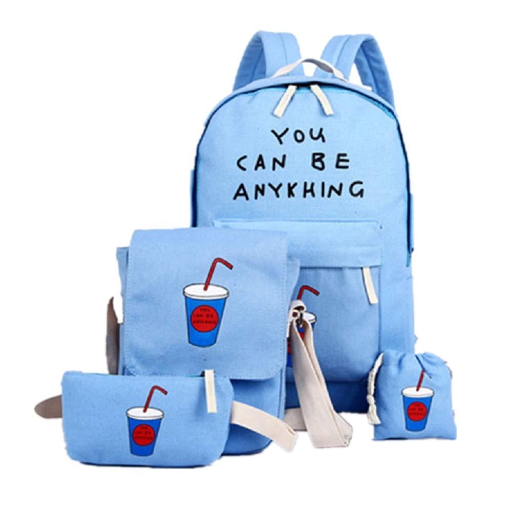 HhGold Cola Escuela Mochila Mochila Chica Chica Escuela Mochila Mochila Mochilas Satchel Bolso de la Escuela Bolsa de Viaje Deportes al Aire Libre Mochila para Estudiantes (Color : Azul) a9df9b