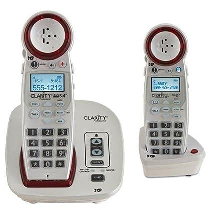 Amazoncom Clarity XLC34 Severe Hearing Loss Cordless Phone with