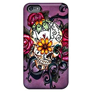 Fashion cell phone carrying shells Eco-friendly Packaging cases iphone 6plus 6p - sugar skull