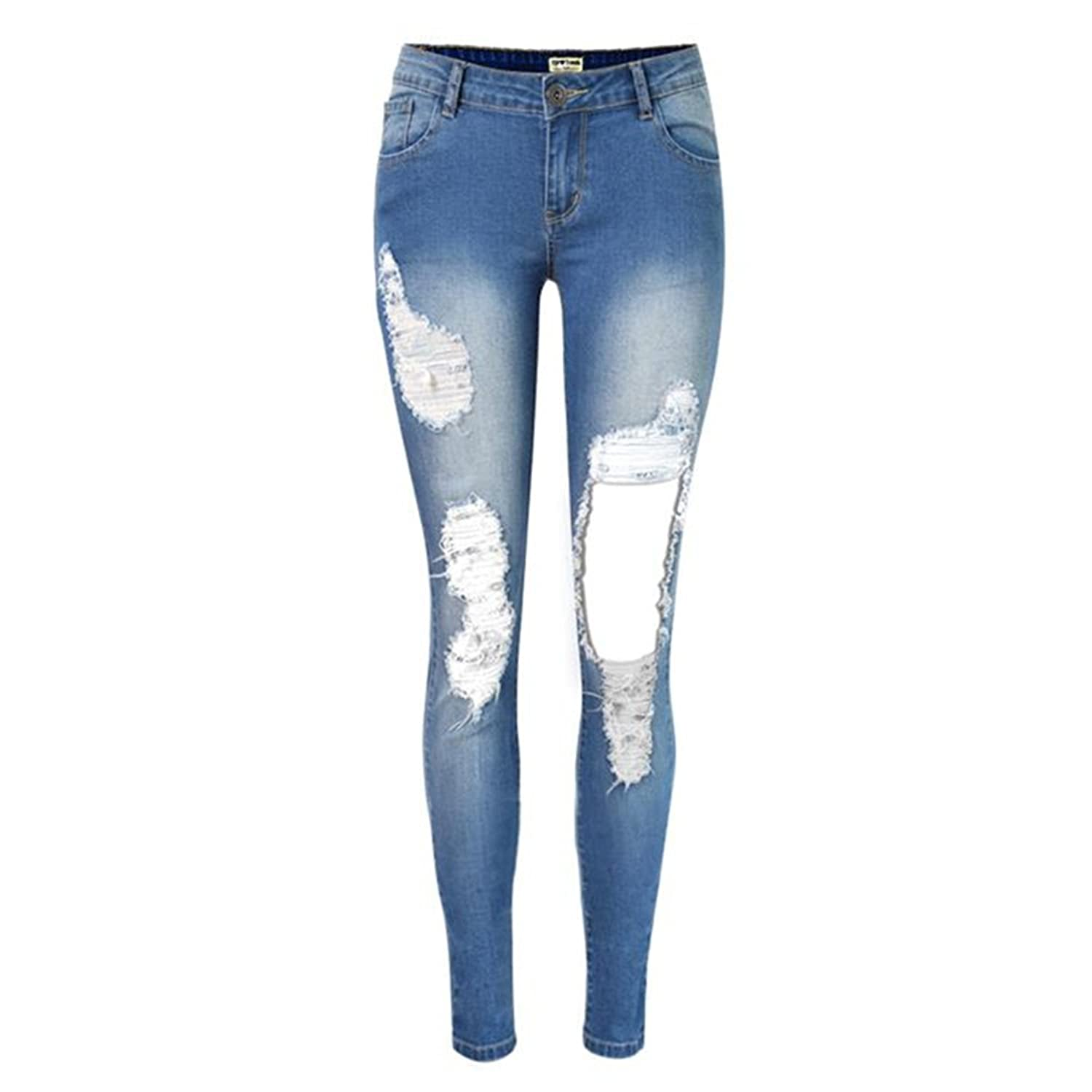 ec6be69185b883 best New Fashion Pencil Pants Hole Jeans Woman Skinny Ripped Jeans For Women  Vaqueros Mujer Boyfriend